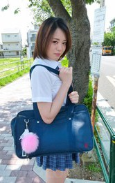 Asian Cosplay Outdoor - Yuna Satsuki Asian with dark nipples is fucked in mouth and twat